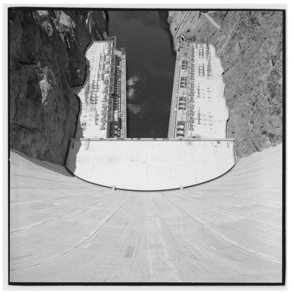 Hoover Dam overhead, Helicotper, Nevada