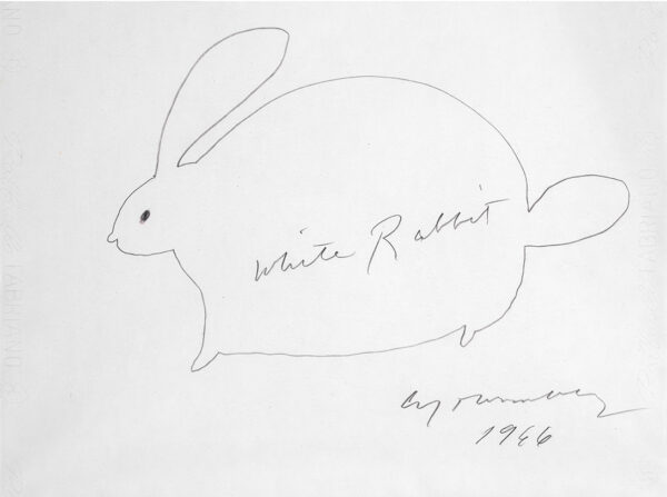 Cy Twombly White Rabbit01 34x46cm 1966 RIT-sito