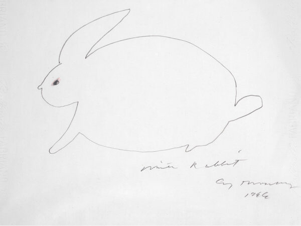 Cy Twombly White Rabbit02 34x46cm 1966 RIT-sito