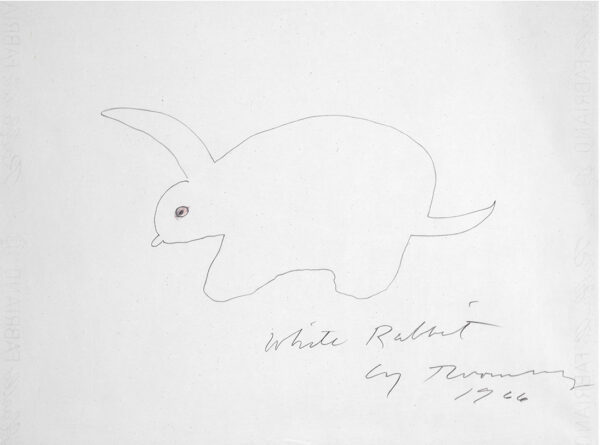 Cy Twombly White Rabbit03 34x46cm 1966 RIT-sito