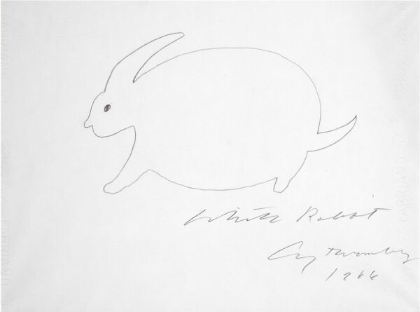 Cy Twombly White Rabbit04 34x46cm 1966 RIT-sito