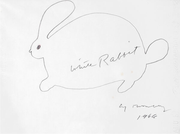 Cy Twombly White Rabbit05 34x46cm 1966 RIT-sito